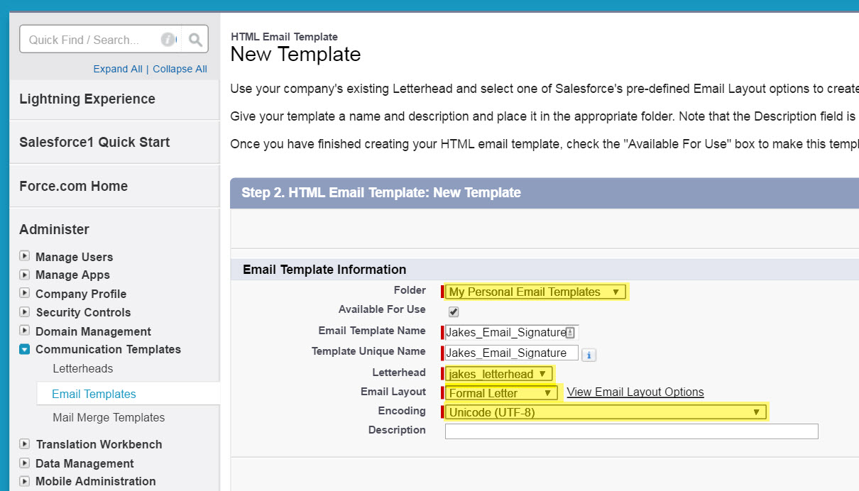 How to setup your email signature in Salesforce