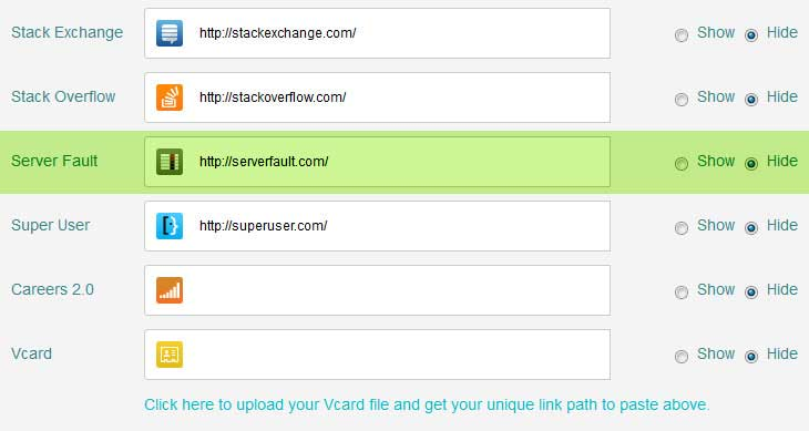 server fault link undefined in html signature