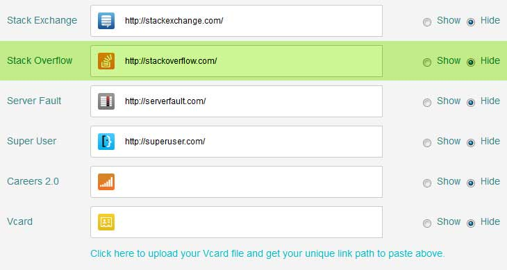 stack overflow link undefined in html signature