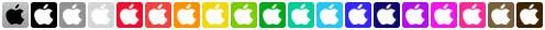 itunes store social icons full set