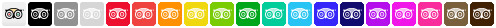 trip advisor social icons full set
