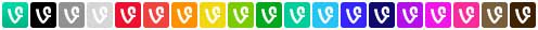 vine social icons full set