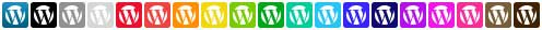 wordpress social icons full set
