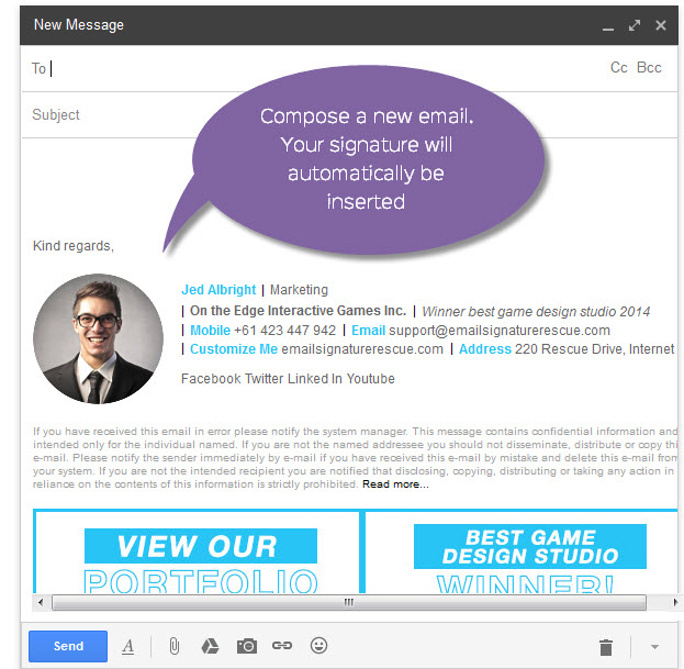 how to create an email signature in gmail