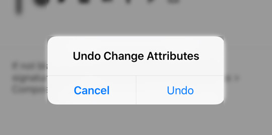 ios 9 undo changes email signature paste