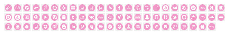 bubblegum social media icons email signature