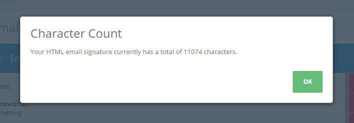 character count button
