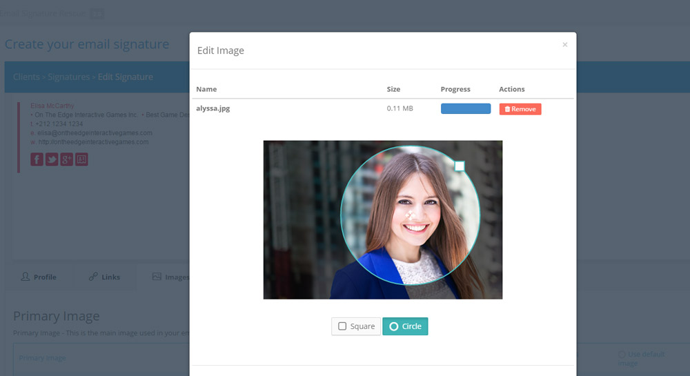How to create an email signature with an image