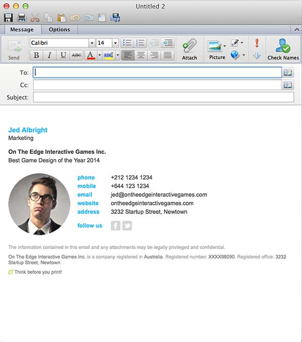 Email Signatures for Outlook Mac 2016
