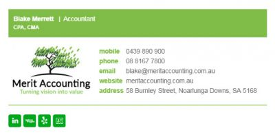 Email Signatures for Accountants - Biz Edge Template