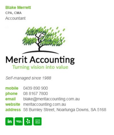 Email Signatures for Accountants - Div Party Template
