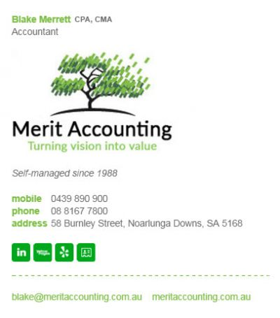 Email Signatures for Accountants - Neptune Template