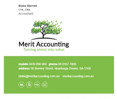 Email Signatures for Accountants - Understated Template