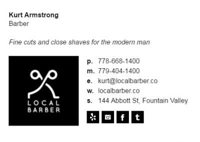 Email Signature for Barbers - Biz Edge Template