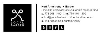 Email Signature for Barbers - The Professional Template