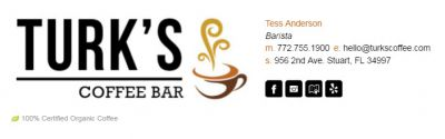 Email Signatures for Baristas - Articulate Template