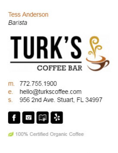 Email Signatures for Small Business - Barista Template