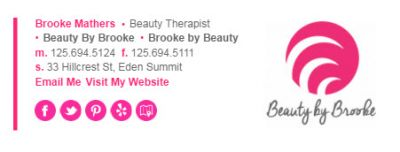 Email Signatures for Small Business - Beauty Therapist Template