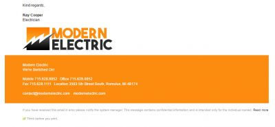 Understated Slim Template for Electricians