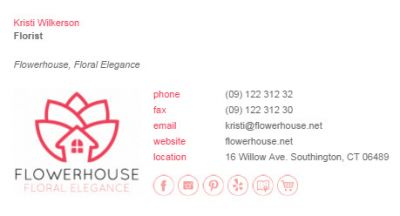 Email Signatures for Florists - Biz Edge Template