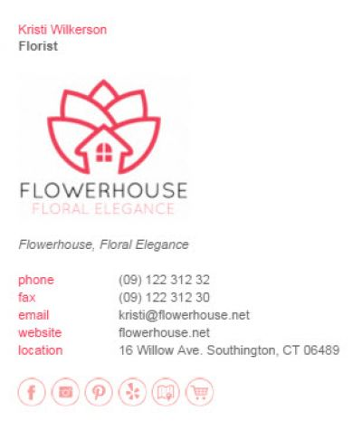 Email Signatures for Florists - Div Party Template