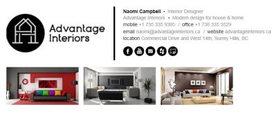 Email Signatures for Interior Designers - The Professional Template
