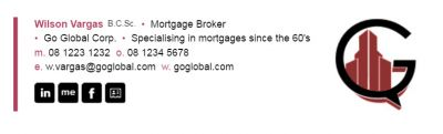 Email signatures for Mortgage Brokers - Horizontal Bar Template