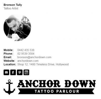 Professional Email Signatures for Tattoo Artists - Div Party Template