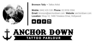 Professional Email Signatures for Tattoo Artists - The Professional Template