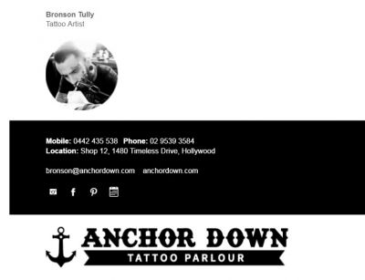 Professional Email Signatures for Tattoo Artists - Understated Template